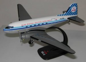 DC-3 KLM Royal Dutch Airlines 1:100 PPC