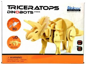 Lopende 3D Triceratops Houten Puzzel