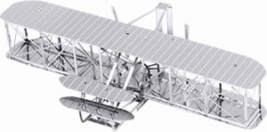 Metal Earth Modelbouw 3D Brothers Wright vliegtuig - Metaal