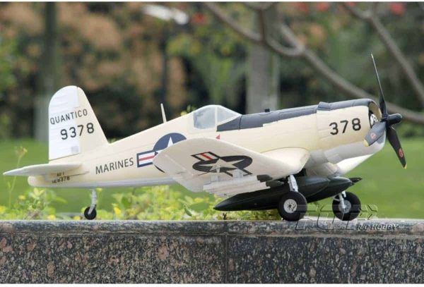 Model Aircraft Company RC Vliegtuig Corsair F-4U 8 Yellow PNP 800 mm serie