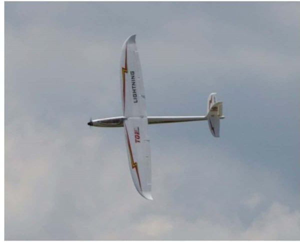 Model Aircraft Company RC Zweef Vliegtuig , Top RC Hobby Lightning ,PNP ,Red , Electric Glider.