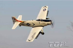 Model Aircraft Company Top RC Hobby Douglas A1 Skyraider 800 mm Serie RTF ,Grijs/Wit