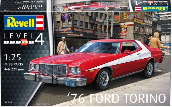 Revell '76 Ford Torino Afmeting verpakking: 35,5 x 21 x 6,5 cm