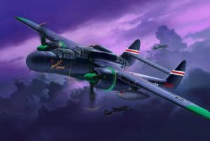 Revell Northrop P-61A/B Black Widow model vliegtuig
