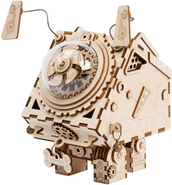 Robotime Seymour AM480 - Houten Modelbouw - Muziekdoos - Steampunk - DIY