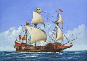 Spanish Galleon Revell schaal 1450