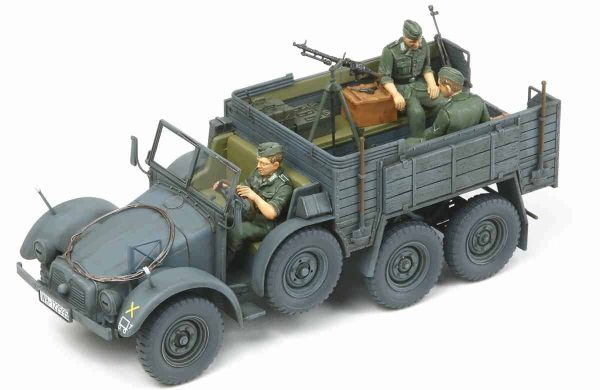 Tamiya German 6x4 Truck Krupp Protze with Three Figures