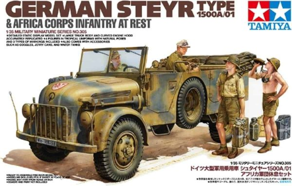 Tamiya German Steyr Type 1500A/01 Africa Corps Infantry at Rest